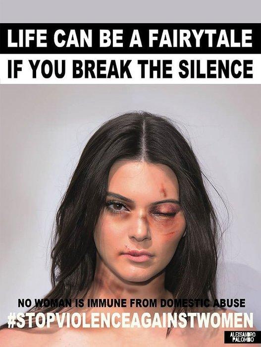 Hollywood'un en güzel kadınları aile içi şiddete dikkat çekti!