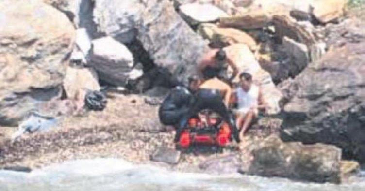 Aracıyla sahile uçtu 2 gün yaralı bekledi