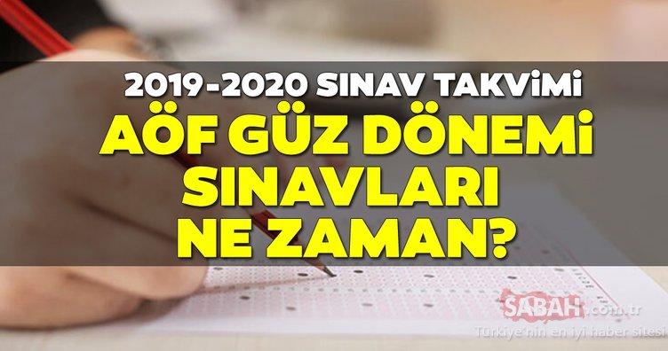 AÖF güz dönemi sınavları 2019 ne zaman, hangi tarihte yapılacak? Anadolu Üniversitesi AÖF sınav tarihleri