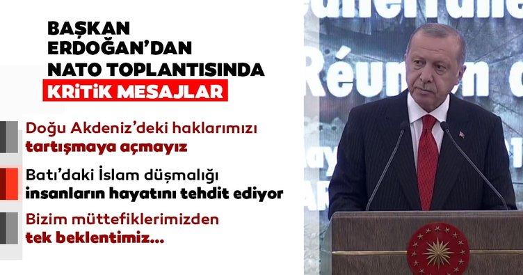 Başkan Erdoğan'dan NATO Toplantısı'nda önemli açıklamalar