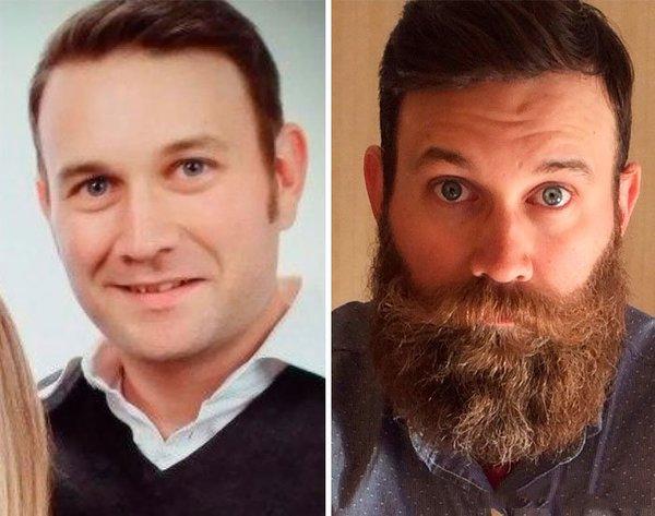 Erkeklerin sakalla inanılmaz değişimi