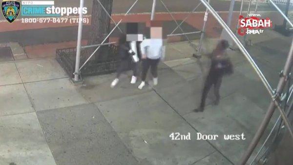 New York'ta Asyalı kadına çekiçli saldırı | Video