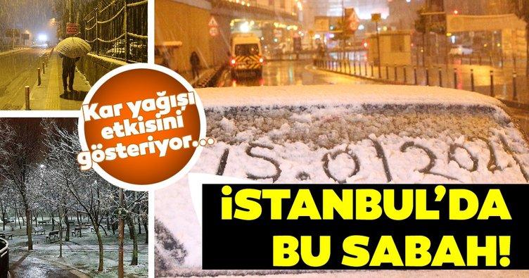Son dakika haberi: İstanbul'da kar yağışı etkisini gösterdi! Ortaya bu manzaralar çıktı...