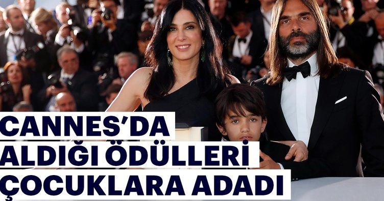 Cannes'da aldığı ödülü yoksul çocuklara adadı