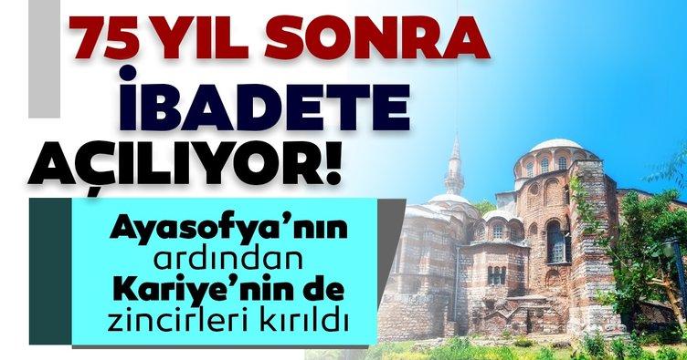 Diyanetİşleri Başkanı Ali Erbaş duyurdu! Ayasofya'nın ardından Kariye Camii de ibadete açılıyor