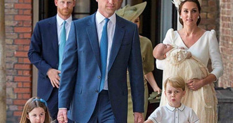 Prens William ve Kate Middleton ailesinin beş...