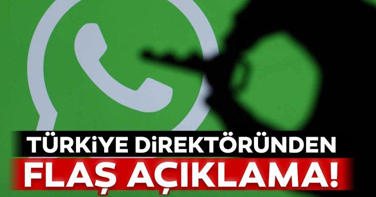 Son dakika haberi: WhatsApp ve Facebook'un Türkiye direktöründen 'Gizlilik' açıklaması!