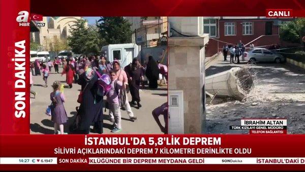 İstanbul'da yaşanan deprem ile ilgili Kızılay Başkanı'ndan son dakika açıklaması!