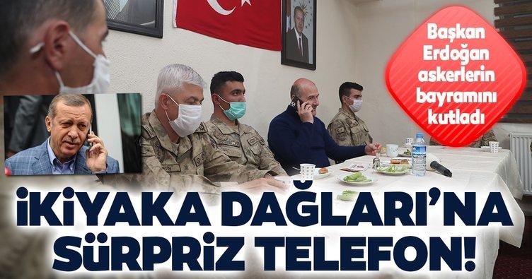 Başkan Erdoğan, İkiyaka Dağları'ndaki askerlerin bayramını kutladı