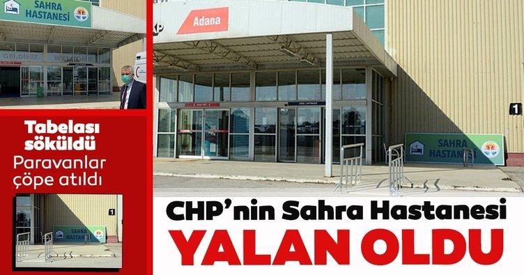 CHP'nin Sahra Hastanesi yalan oldu: Tabelası söküldü paravanlar çöpte