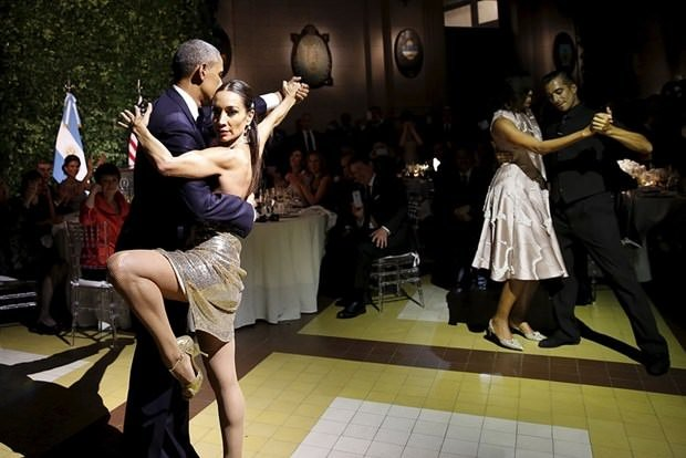 Obama'dan tango şovu