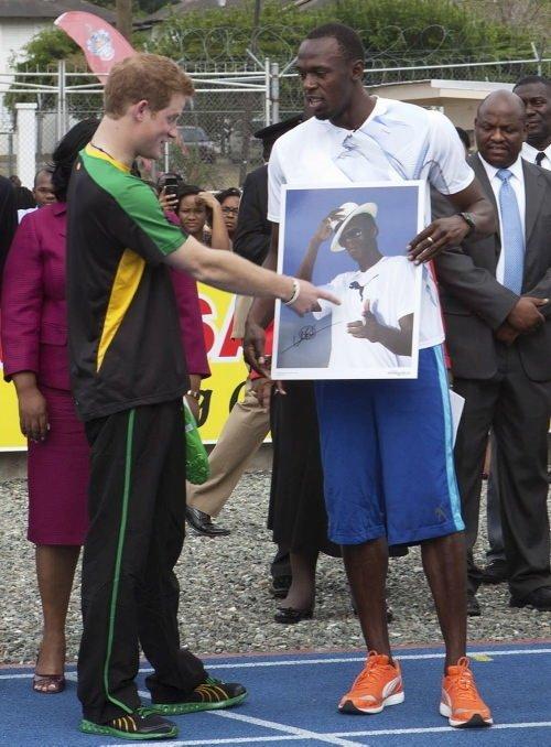 Prens Harry, Usain Bolt ile yarıştı