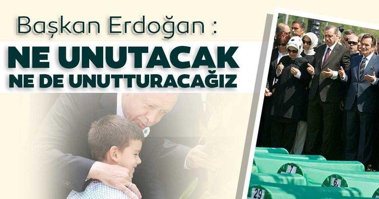 SON DAKİKA! Başkan Erdoğan'dan flaş Srebrenitsa mesajı!