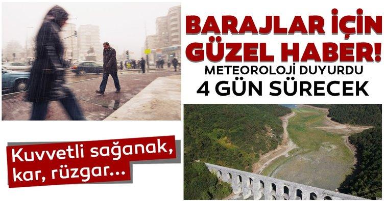SON DAKİKA | Barajlar için müjde hava durumu tahmin raporundan geldi! İstanbul dahil birçok ile 4 gün yağış müjdesi!