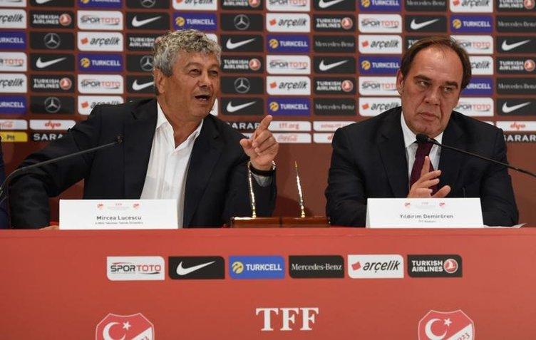 TFF'de kritik görüşme! Lucescu ve Yıldırım Demirören!