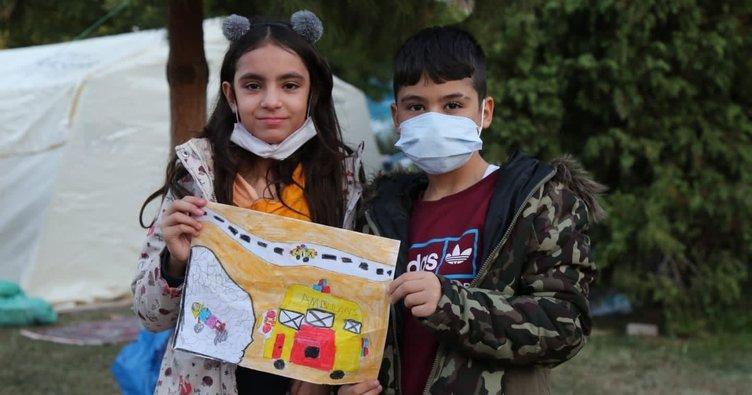 Deprem enkazından kurtarılan Elif için resimli teşekkür