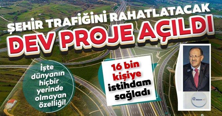 Şehir trafiğini rahatlatacak Kuzey Marmara Otoyolu'nun 5. etabı açıldı: İşte dünyanın hiçbir yerinde olmayan özelliği!