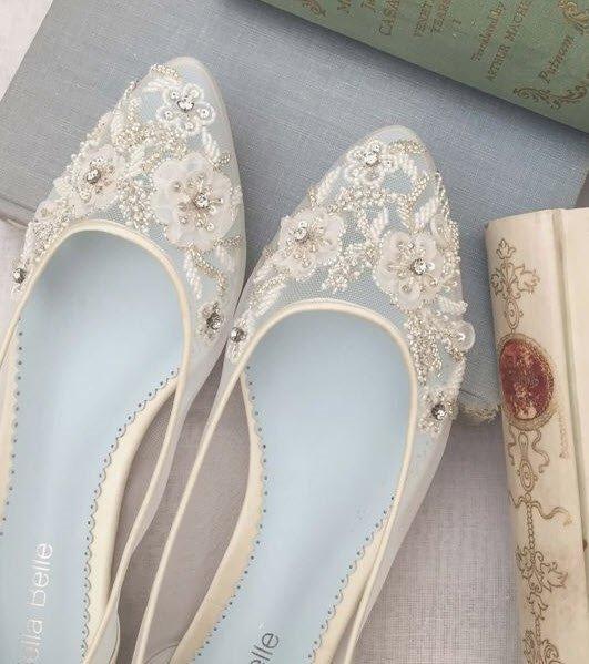 Rahatına düşkün gelinler için...Topuksuz gelin ayakkabısı modelleri