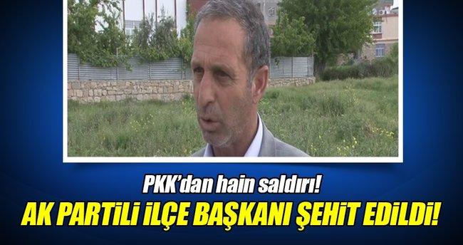 Diyarbakır'da AK Parti İlçe Başkanı'na hain saldırı!