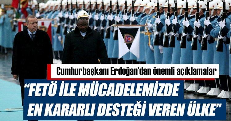 Cumhurbaşkanı Erdoğan: Gambiya FETÖ ile mücadelemizde en kararlı ülke oldu