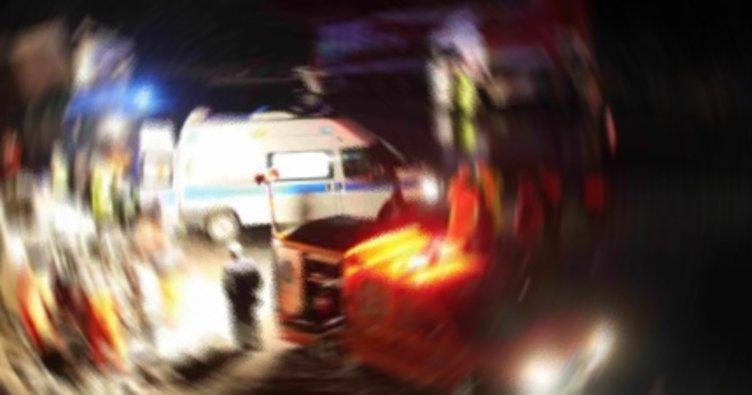 İki otobüs arasında sıkışan sürücü yaşamını yitirdi