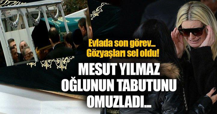 Mesut Yılmaz oğlunun cenazesini hastaneden aldı