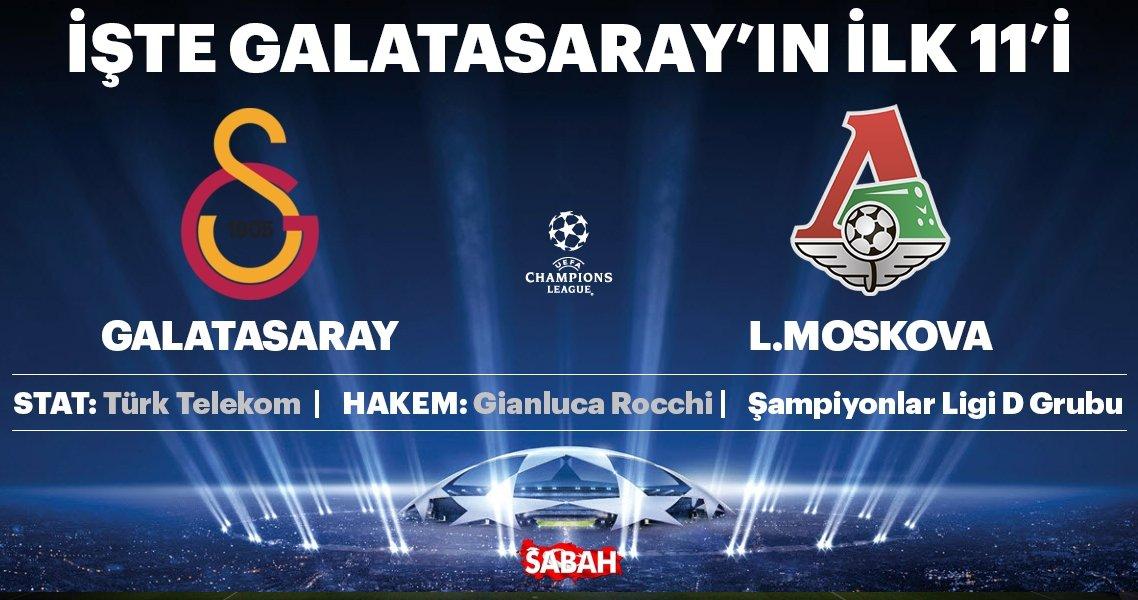 Galatasaray, iki sezonluk aranın ardından UEFA Şampiyonlar Ligi sahnesine çıkıyor. Sarı kırmızılı ekip D Grubu maçında Rus temsilcisi Lokomotiv Moskova'yı ağırlayacak. 22.00'da başlayacak karşılaşmayı sabah.com.tr'den canlı takip edebileceksiniz. Karşılaşmada ilk 11'ler belli oldu. UEFA Şampiyonlar...