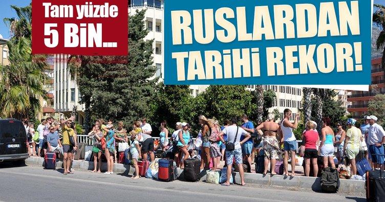 Rus turist rekor kırdı! Tam yüzde 5 bin...