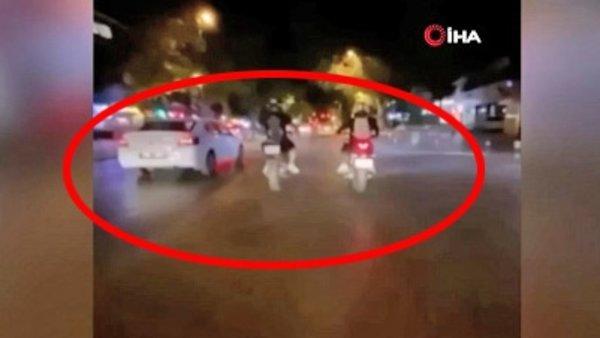 İstanbul'da terör estiren magandalar skandal görüntüleri övünerek sosyal medyadan böyle paylaştılar   Video