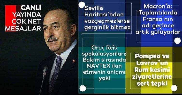 Son dakika: Dışişleri Bakanı Mevlüt Çavuşoğlu'ndan Yunanistan'a: Seville Haritası'ndan vazgeçmedikçe gerginlik bitmez...