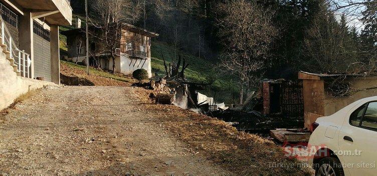 Trabzon Çaykara'daki yangında 100 yıllık hatıralar da yandı