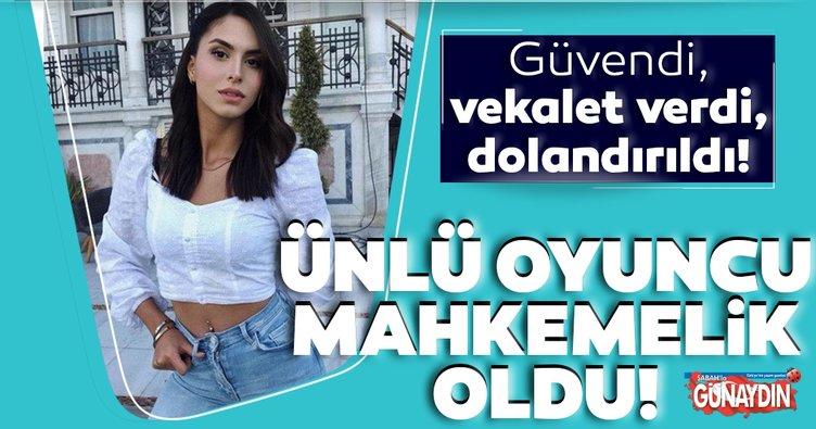 Oyuncu Ayşegül Çınar'a avukat kazığı!
