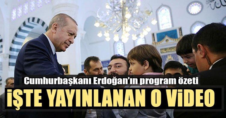 Cumhurbaşkanı Erdoğan'ın haftalık program özet videosu