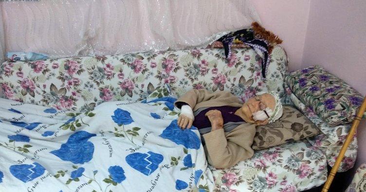Rögara düşen 90 yaşındaki kadın yaralandı
