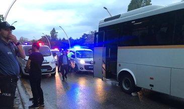 Ankara'da polis servis aracı, yolcu otobüsüne çarptı: 3'ü polis, 8 yaralı
