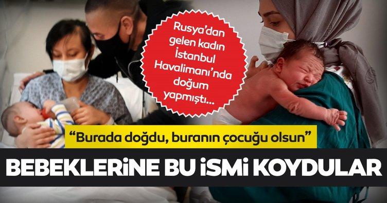 """Son dakika: İstanbul Havalimanı'nda doğan bebeğin adı belli oldu... Aile, bebeğe """"İstanbul"""" ismini verecek"""