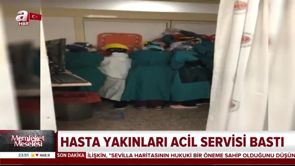 Ankara'da hasta yakınları acil servisi bastı | Video