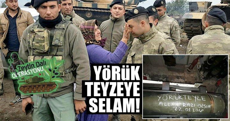 Mehmetçik Yörük teyzeyi unutmadı