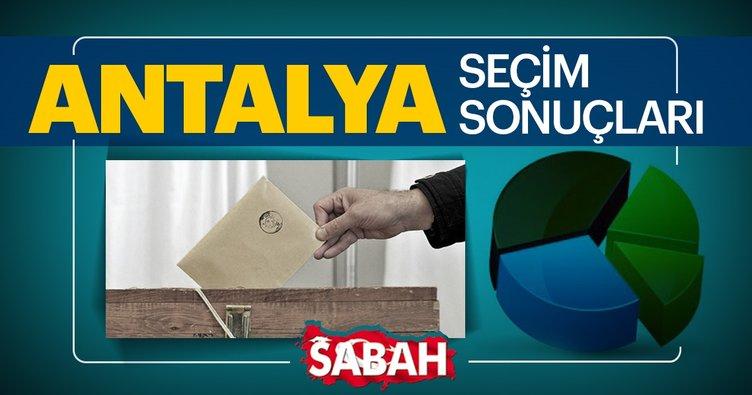 Antalya seçim sonuçları açıklanıyor! İşte 31 Mart 2019 Antalya Büyükşehir Belediye Başkanlığı yerel seçim sonucu ve oy oranları