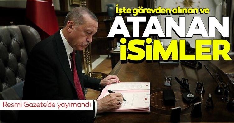 Birçok isim görevden alındı... Atama kararları Resmi Gazete'de
