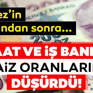 Son dakika haberi: Ziraat Bankası ve İş Bankası faiz oranlarını indirdi! Güncel banka kredi faiz oranları ne kadar?
