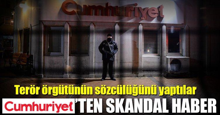 Cumhuriyet Gazetesi'nde skandal...