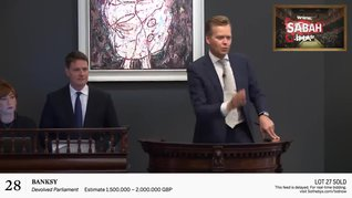Banksy'nin tablosuna rekor fiyat
