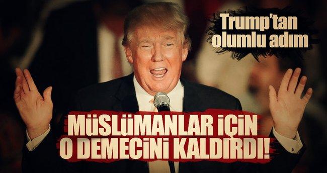 Trump'tan Müslümanlara yönelik 'ilk icraat' geldi