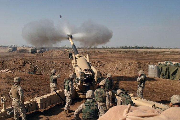 YPG mevzileri top atışlarıyla vuruldu