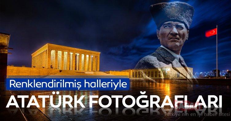 10 Kasım'a özel renklendirilmiş halleriyle Atatürk fotoğrafları
