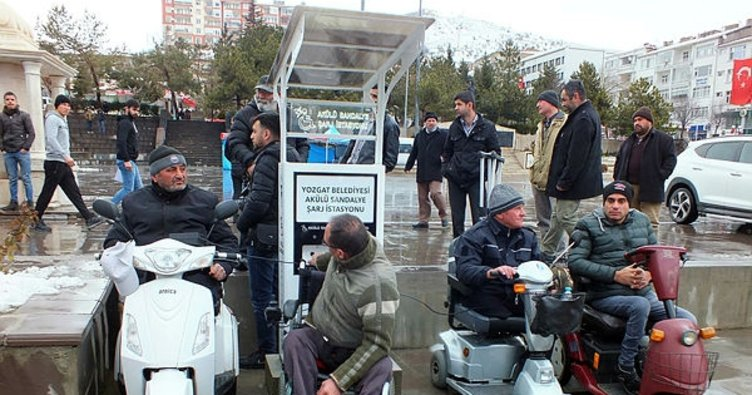 Yozgat'ta engelliler için şarj dolum istasyonu açıldı