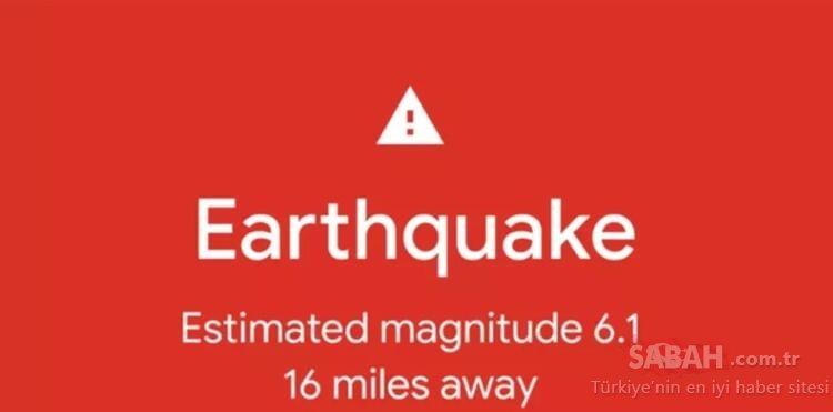 Google resmen açıkladı! Android telefonlara depremölçer özelliği geliyor
