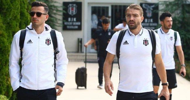 Beşiktaş, Benfica maçı için Portekiz'e gitti