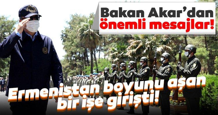 Son dakika: Milli Savunma Bakanı Hulusi Akar'dan Ermenistan'a çok sert sözler: Boylarını aşan bir işe giriştiler...